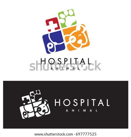Animal hospital logo vector