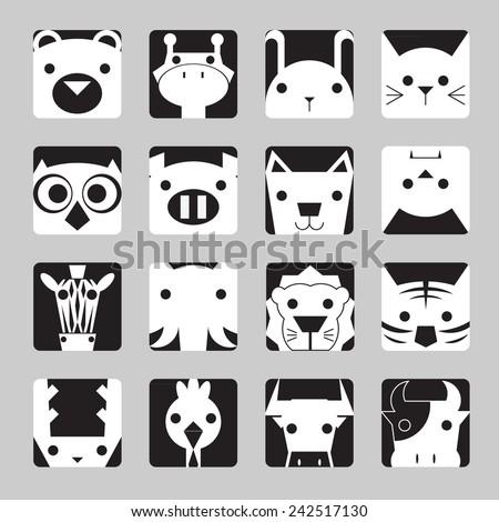 animal icon / Geometry animal / zoo