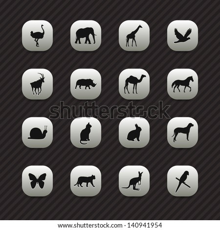 Animal icons / buttons set