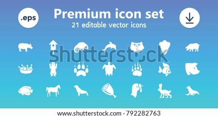 animal icons set of 21