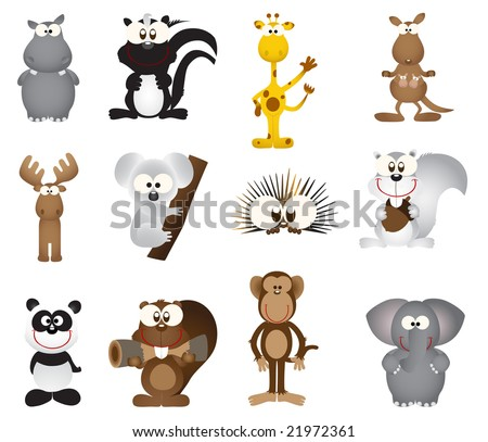 Animal icons (vector)