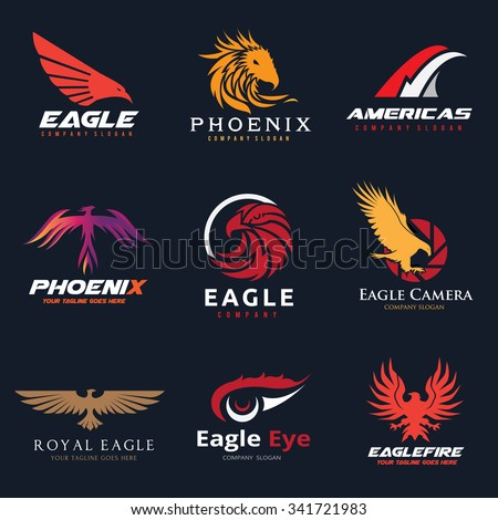 animal logo collection eagle