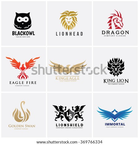 animal logo collection lion