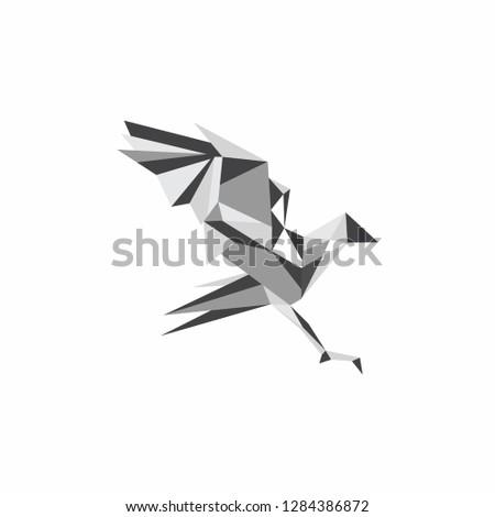 animal logo geometris
