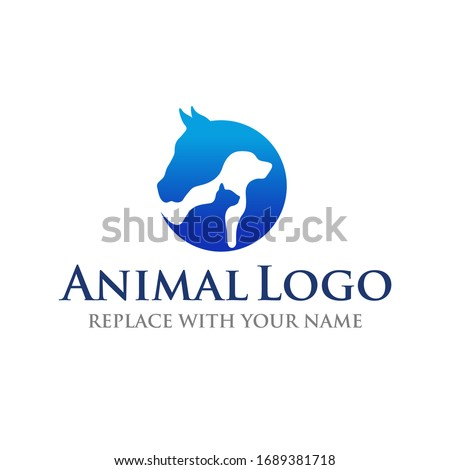 animal logo with horse dog and