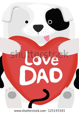 animal love collection, little dog love dad