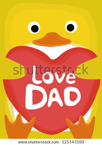 animal love collection, little duck love dad