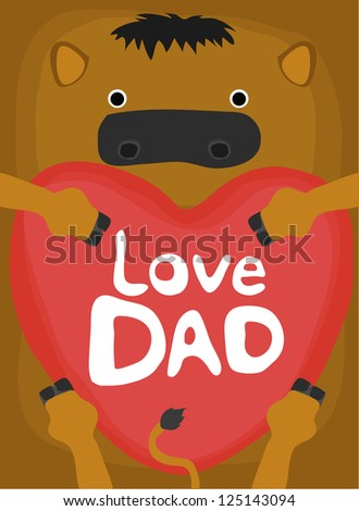 animal love collection, little horse love dad