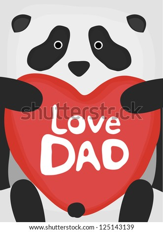 animal love collection, little panda love dad