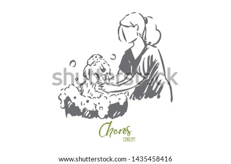 Animal lover concept sketch. Isolated vector illustration