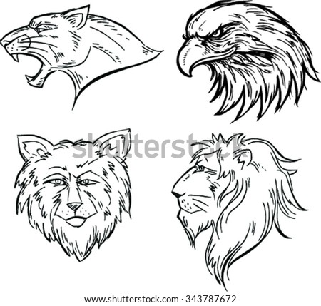 animal mascot vector logo set