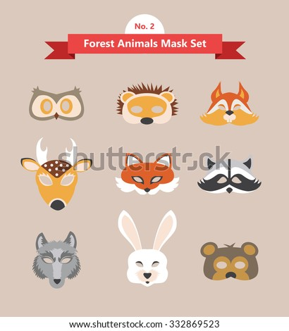 animal mask set  forest animals