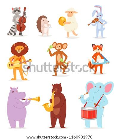 animal music vector animalistic