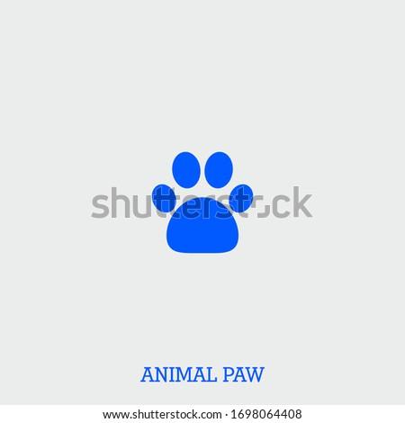animal paw icon animal paw
