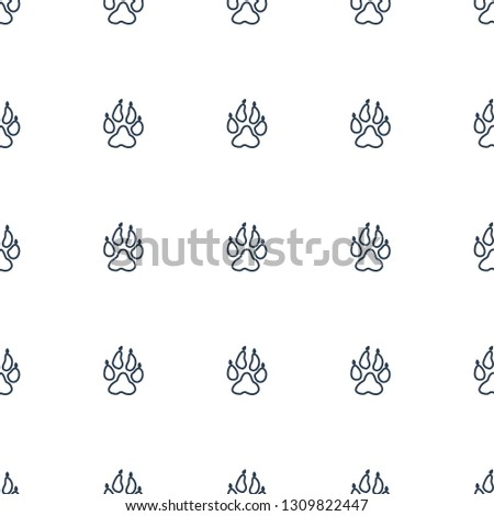 animal paw icon pattern seamless white background. Editable outline animal paw icon. animal paw icon pattern for web and mobile.