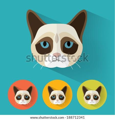 animal portrait with flat