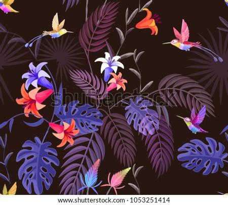 animal print pattern tropical