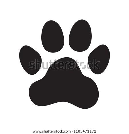 Animal's (dog's) paw print. Icon. Vector illustration.