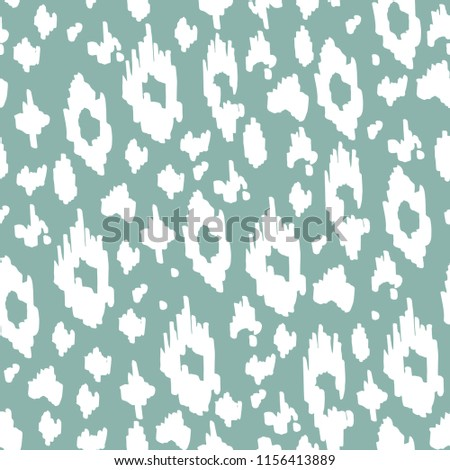 Animal seamless pattern colorful and monochrome. Fashion and stylish background. Vector illustration with leopard texture