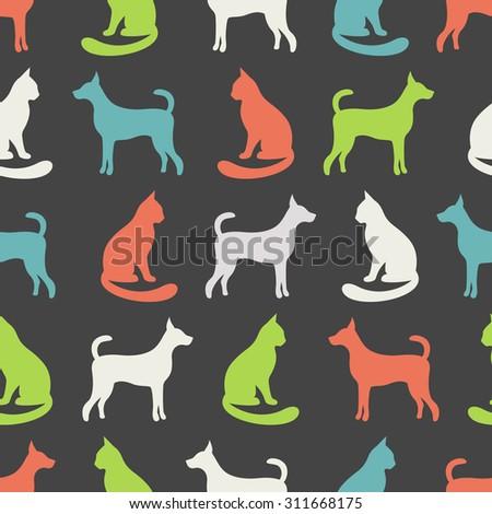 animal seamless vector pattern
