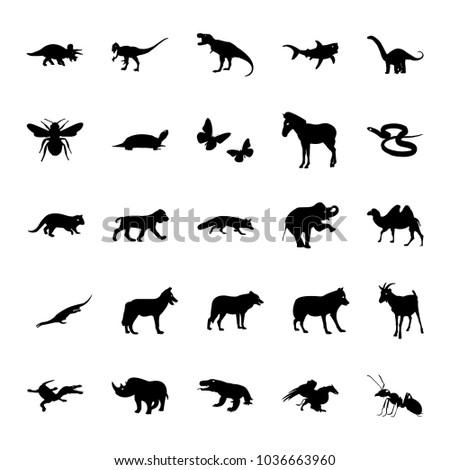 Animal Silhouette Icon Set