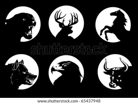 Animal silhouette on moonlight