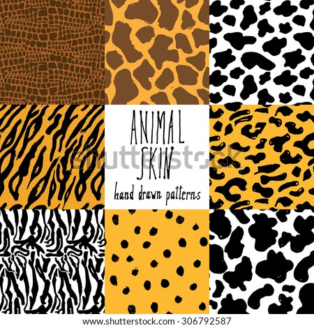 animal skin hand drawn texture