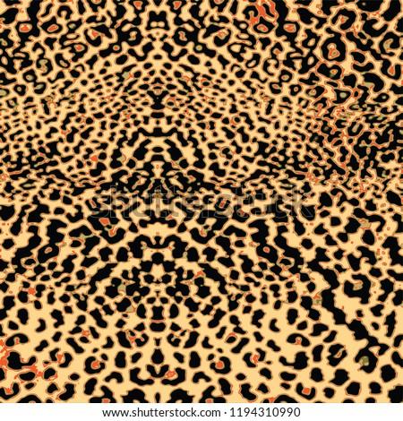 animal skin leopard pattern in