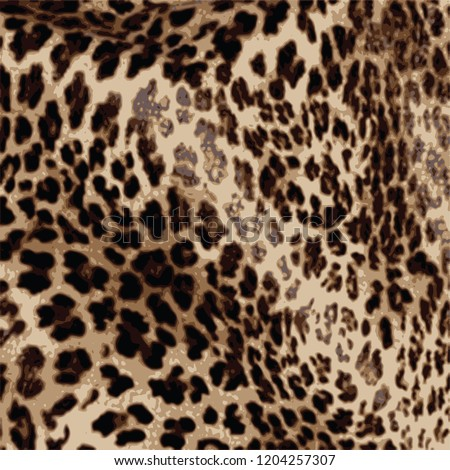 animal skin leopard pattern in vector #1204257307