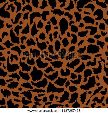 Animal skin prints leopard seamless pattern vector design for fashion ,fabric ,wallpaper,cover and all prints on stylish brown background color