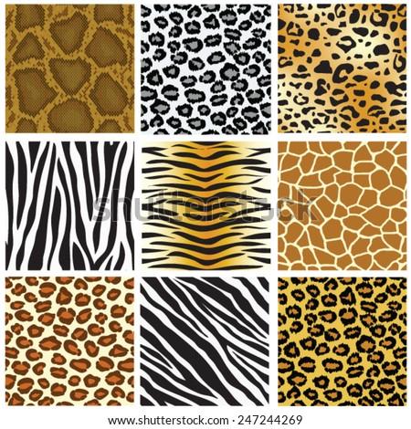 animal skin seamless pattern