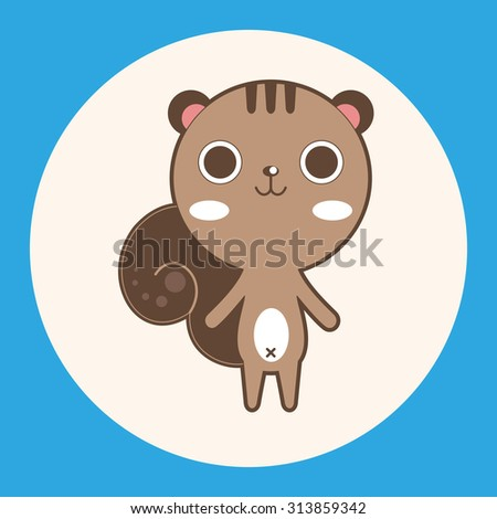 animal squirrel cartoon theme