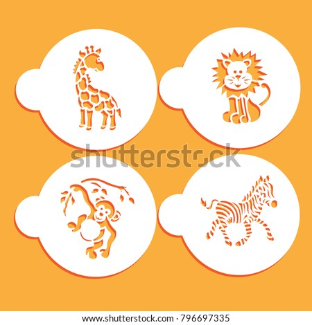 animal stencil cards