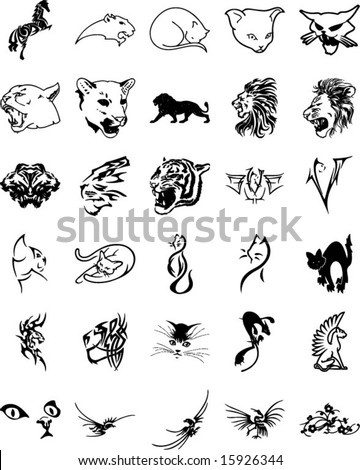 stock vector Animal tribal
