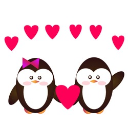 Animal Vector Cute Pinguin On Illustration Image,perfect for kids education Brochures,Print on Kid T Shirt etc