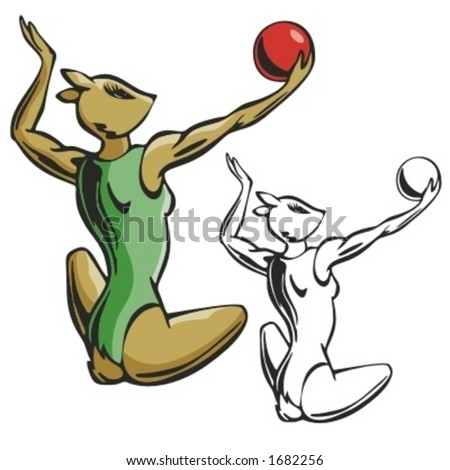 volleyball clipart pictures. Animal Volleyball Mascot.