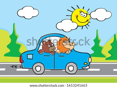 animals  bear and lion drive