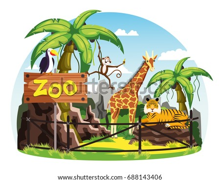 animals behind fence and zoo