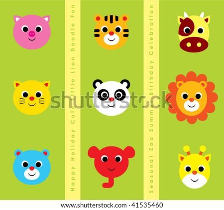 animals cartoon greeting