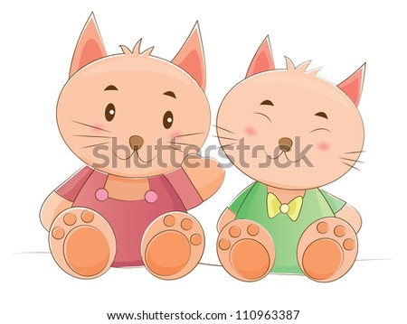animals couple series (cat)