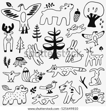 animals doodles