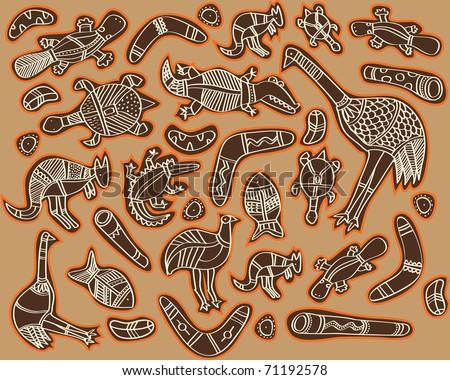 Australian Wildlife Drawings Animals Drawings Aboriginal