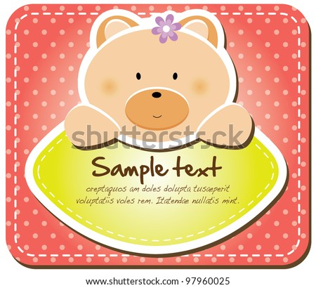 Animals frame collection (Bear version,17 animals available) - stock vector