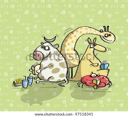 Animals Having Fun