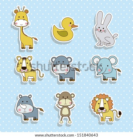 animals icons over dotted background vector illustration