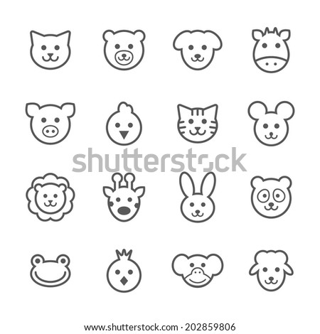 Animals icons, vector.