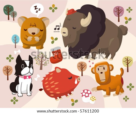animals in park