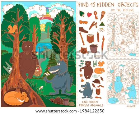 animals in the forest find