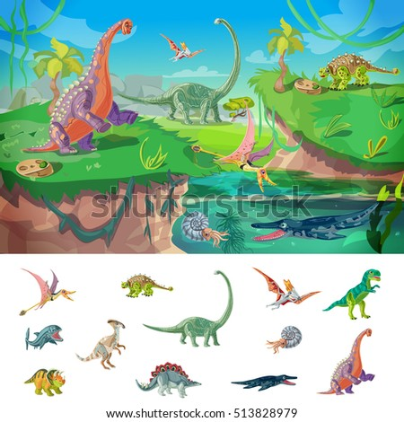 animals jurassic concept with