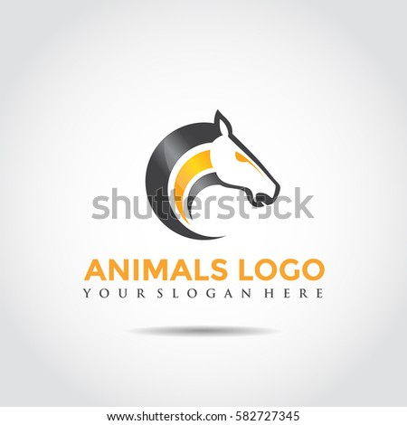 animals logo template horse